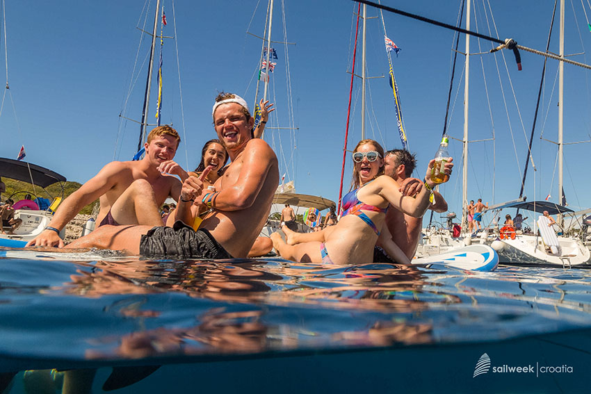 Average age on Sailweek cruises is from 18 to 35