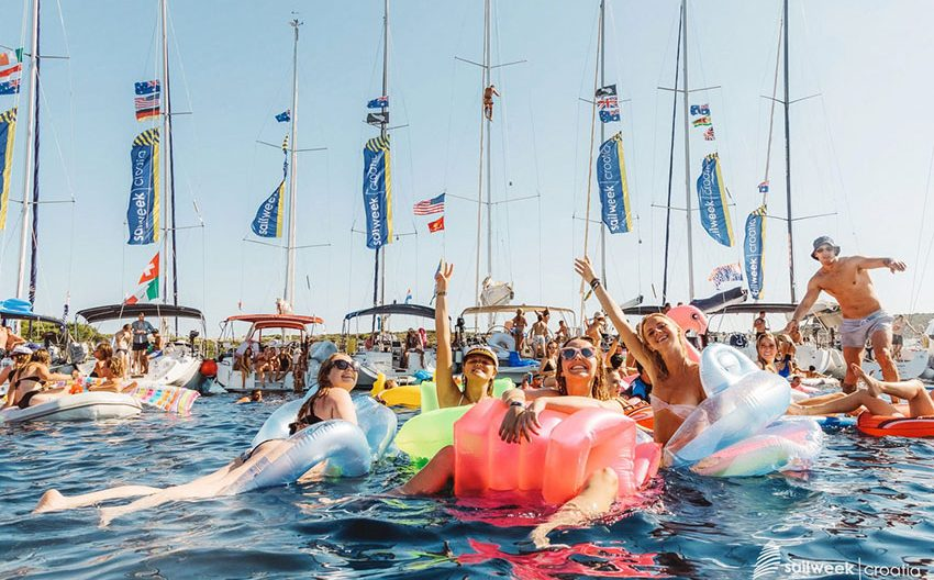 Circle raft party on Ultra Sail Week Croatia