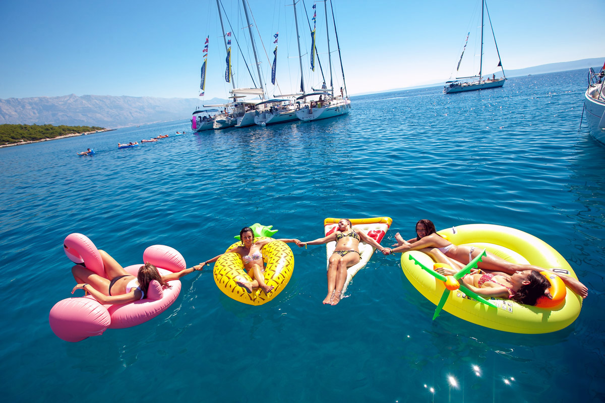 Floaties popular items on raft parties