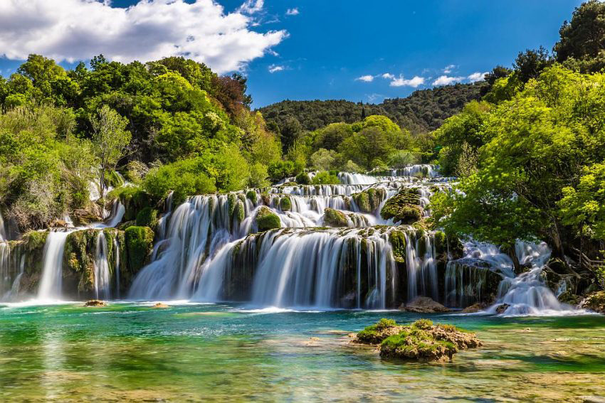 Krka national park waterfalls. Just an hour drive from Split