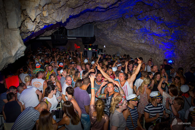 Amazing SailWeek party in the real cave club in Makarska