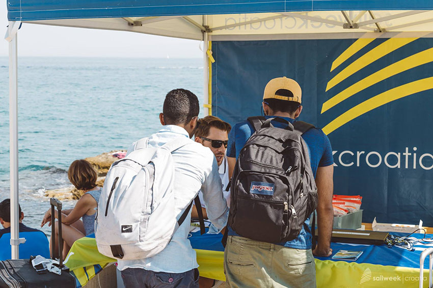 SailWeek Info desk, place where you check in and collect wristbands