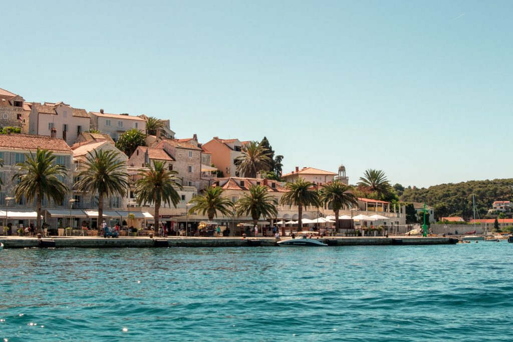 Hvar is a port and resort town on the Croatian island of Hvar. Yachts fill its harbor in summer.