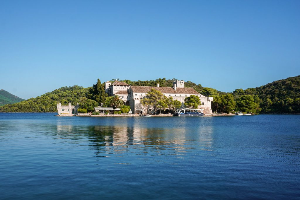 Mljet. Right in the middle of the Large Lake, there is a small island/islet Melita (Sveta Marija) with a large building of the former Benedictine monastery, erected there in the 12th century