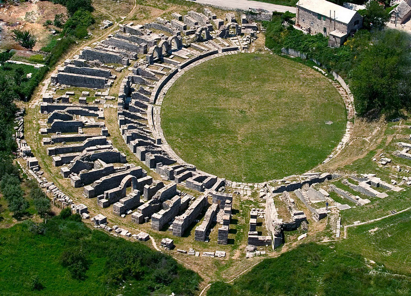 Salona, ancient city remains near Split