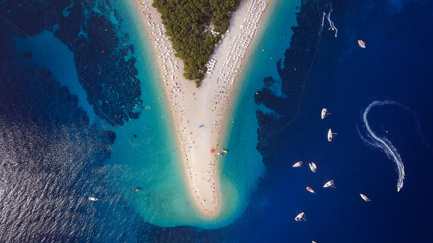 Zlatni rat, the most famous beach is the home of our best beach party