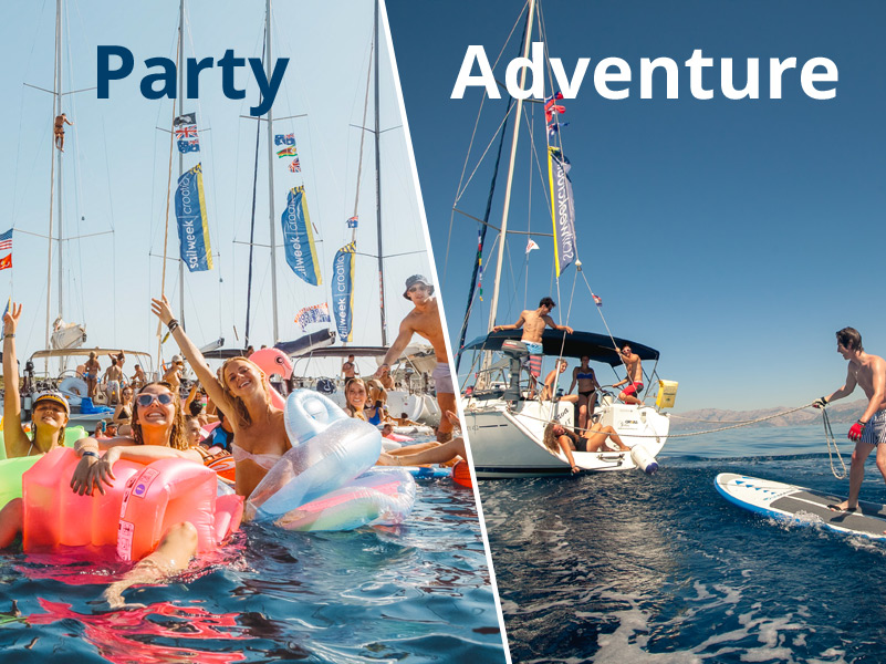 Party vs. Adventure SailWeek